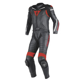 LAGUNA SECA D1 2PCS SUIT BLACK/BLACK/RED- Two Piece Suits