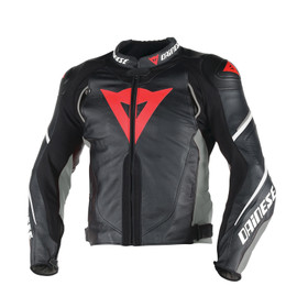 SUPER SPEED D1 LEATHER JACKET BLACK/ANTHRACITE/WHITE