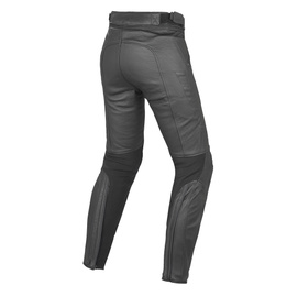 PONY C2 LADY LEATHER PANTS BLACK- Leather