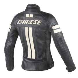 LOLA D1 LADY LEATHER JACKET BLACK/ICE- Blousons