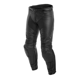 ASSEN LEATHER PANTS  BLACK/ANTHRACITE