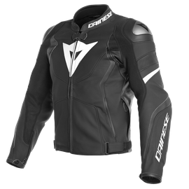 AVRO 4 LEATHER JACKET BLACK-MATT/BLACK-MATT/WHITE- Cuir