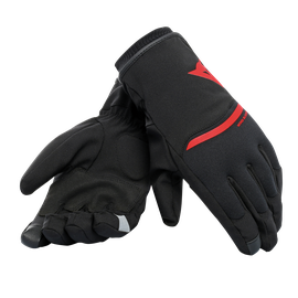 PLAZA 2 D-DRY GLOVES BLACK/RED