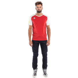 AGO-1 T-SHIRT WHITE/RED- T-Shirts