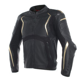 MUGELLO ANNIVERSARIO LEATHER JACKET BLACK/GOLD