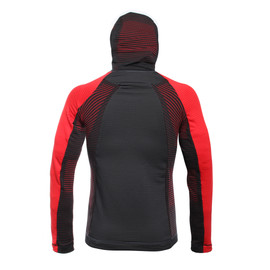 AWA MID HOODED FULL ZIP MAN STRETCH-LIMO/HIGH-RISK-RED