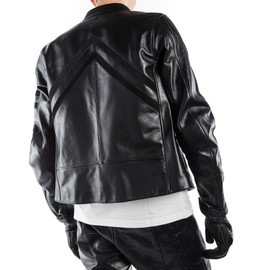 FRECCIA72 LEATHER JACKET BLACK/BLACK