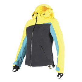 CIAMPAC D-DRY JACKET LADY VIBRANT-YELLOW/BLACK/BRIGHT-AQUA- Jackets