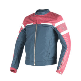 ZHEN YUN LEATHER-TEX JACKET CINO-BURGUNDY/QUING-GRAY/WHITE