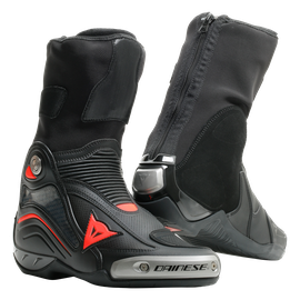 AXIAL D1 AIR BOOTS BLACK/FLUO-RED- Leder