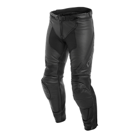 ASSEN PERF. LEATHER PANTS BLACK/ANTHRACITE- Leather
