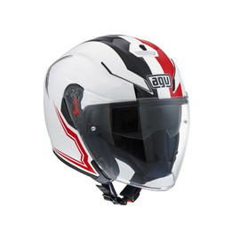 K-5 JET AGV E2205 MULTI - BRAVE WHITE/BLACK/RED