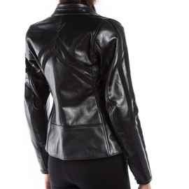 FRECCIA72 LADY LEATHER JACKET BLACK/BLACK- Dainese72