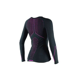D-CORE THERMO TEE LS LADY BLACK/FUCHSIA- Shirts