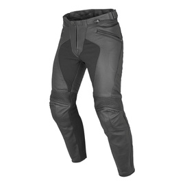 PONY C2 PERF. LEATHER PANTS BLACK- Cuir