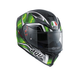 K-5 AGV E2205 MULTI PLK - HURRICANE BLACK/GREEN/WHITE