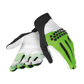 ROCK SOLID-D GLOVES WHITE/GREEN/WHITE