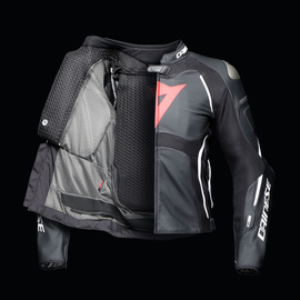 TUONO D-AIR PERF. LEATHER JACKET BLACK-MATT/BLACK-MATT/WHITE- D-air