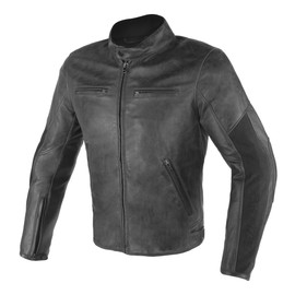 STRIPES D1 LEATHER JACKET  BLACK/BLACK