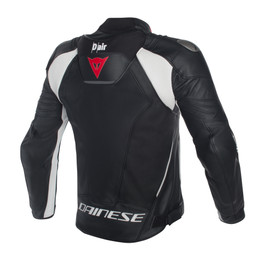 Misano D-air® jacket BLACK/BLACK/WHITE- Leather