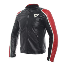 SPECIALE LEATHER JACKET BLACK/RED