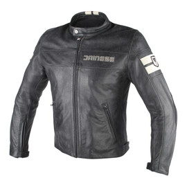 HF D1 LEATHER JACKET BLACK/ICE