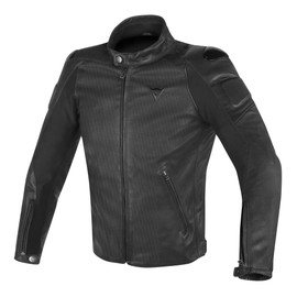 STREET DARKER PERFORATED LEATHER JACKET BLACK