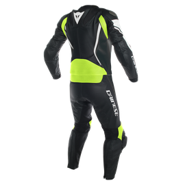 ASSEN 2 PCS SUIT BLACK/WHITE/FLUO-YELLOW