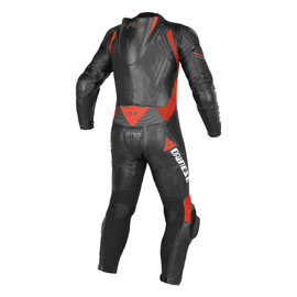 TRICKSTER EVO C2 1 PIECE PERFORATED SUIT BLACK/BLACK/FLUO-RED