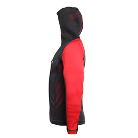 AWA MID HOODED FULL ZIP MAN STRETCH-LIMO/HIGH-RISK-RED- AWA