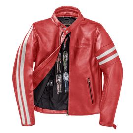 FRECCIA72 LEATHER JACKET RED/WHITE-S- Dainese72