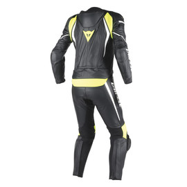 LAGUNA SECA D1 2PCS SUIT BLACK/BLACK/FLUO-YELLOW- Two Piece Suits