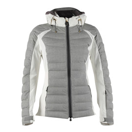 VENTINA JACKET LADY GREY-MELANGE/WHITE