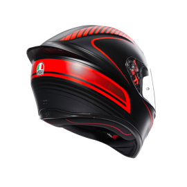 K1 MULTI ECE DOT - WARMUP MATT BLACK/RED - K1