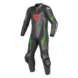 TRICKSTER EVO C2 1 PIECE PERFORATED SUIT BLACK/BLACK/FLUO-GREEN