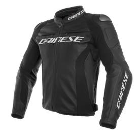 RACING 3 SHORT/TALL LEATHER  JACKET BLACK/BLACK/BLACK