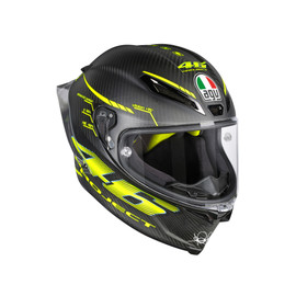 PISTA GP R TOP ECE DOT PLK - PROJECT 46 2.0 MATT CARBON