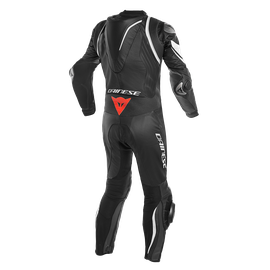 KYALAMI  1PC PERF. LEATHER SUIT BLACK/WHITE/WHITE- One Piece Suits