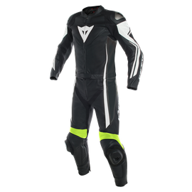 ASSEN 2 PCS SUIT BLACK/WHITE/FLUO-YELLOW- Deux Pieces