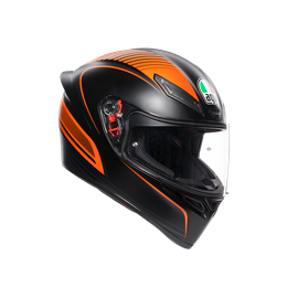 K1 MULTI ECE DOT - WARMUP MATT BLACK/ORANGE