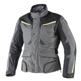 SANDSTORM GORE-TEX JACKET DARK-GULL-GRAY/BLACK/FLUO-YELLOW