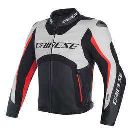 MISANO D-AIR JACKET WHITE/BLACK/RED-FLUO