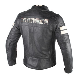 HF D1 LEATHER JACKET BLACK/ICE- Leather