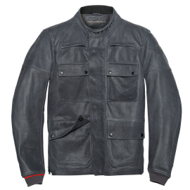 KIDAL LEATHER JACKET EBONY