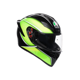 K1 MULTI ECE DOT - QUALIFY BLACK/LIME