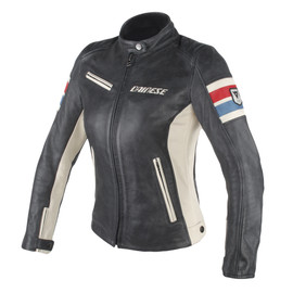 LOLA D1 PERF. LADY LEATHER JACKET  BLACK/ICE/RED/BLUE