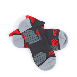 D-CORE FOOTIE SOCK BLACK/RED- Technical Layers