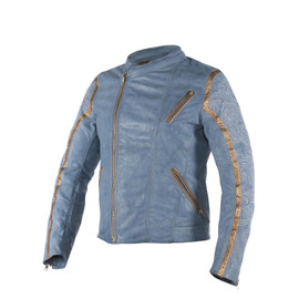 GONG YUN LEATHER JACKET DRAGON/QUING-BLUE/NOBLE-YELLOW