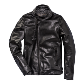 CHIODO72 LEATHER JACKET  BLACK