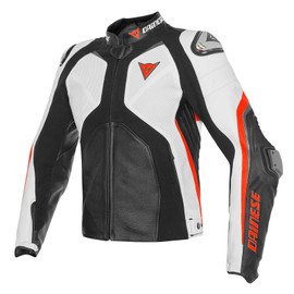 SUPER RIDER PELLE ESTIVO BLACK/WHITE/FLUO-RED